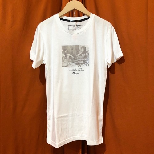 PRINT T-shirt    Color : White/Queen