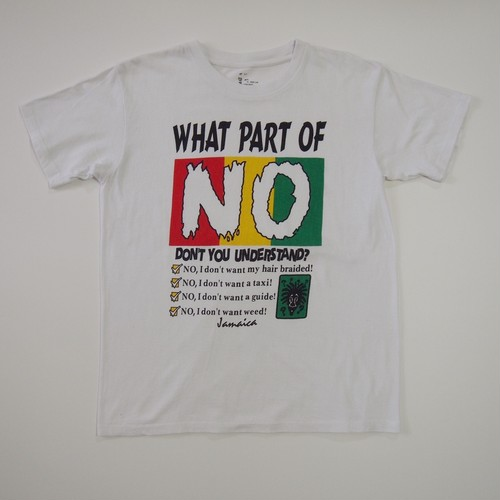 """WHAT PART OF NO"" PRINT TEE"