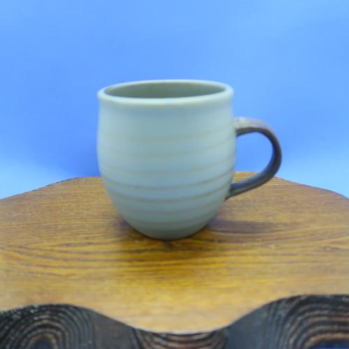 小石原焼 マグカップ トビカンナグレー 上鶴窯