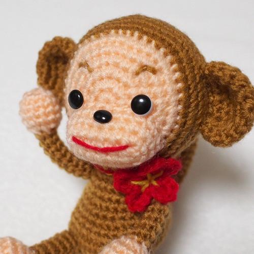 猿のあみぐるみ 編み図