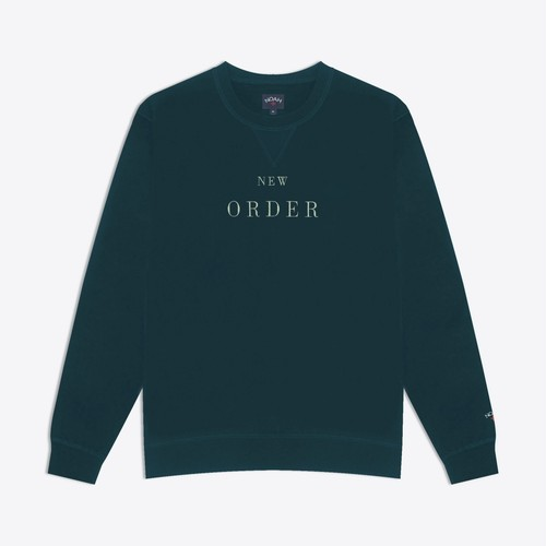 Noah x New Order Embroidered Crewneck(Reflecting Pond)