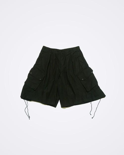 over dye cargo shorts