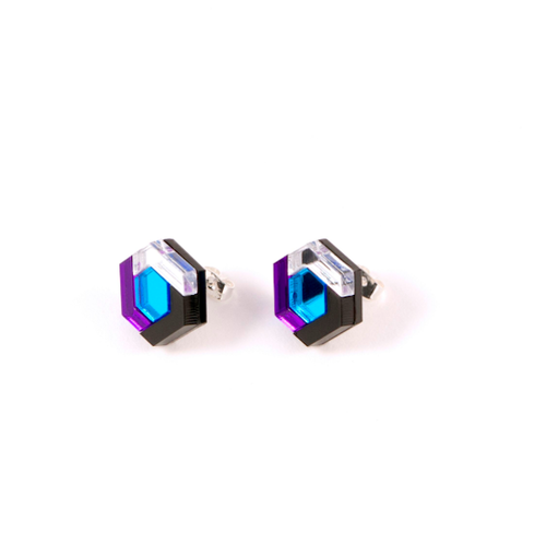 "MYSTIC FORMS ""Geometric Perspex Statement Mini Earrings""  FORM043 ピアス"