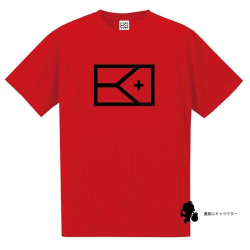 BIGフラッグ×キャラクターTシャツ(レッド×ブラック)