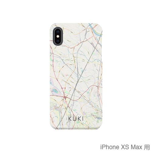 【久喜】地図柄iPhoneケース(バックカバータイプ・ナチュラル)