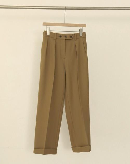 TODAYFUL トゥデイフル Twill Tuck Trousers ベージュ 12010723