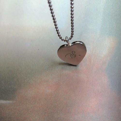 HEART PENDANT 両面刻印 SILVER925 #LJ19005N ハートペンダント/シルバー925