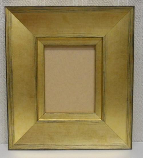 ミニ額ゴールドD-21030額縁寸法90mm×70mm窓枠寸法76mm×56mm 壁掛け用 箱なし