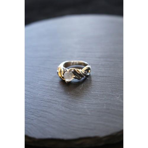 美しくスタイリッシュな造形【SURREALISTE】Siver925×Moonstone Unisex Ring シルバー×ムーンストーン ユニセックスリング SL-R-06 (moon)