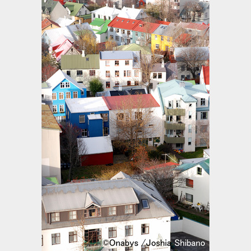 No.1-A4サイズ『Downtown of Reykjavik』