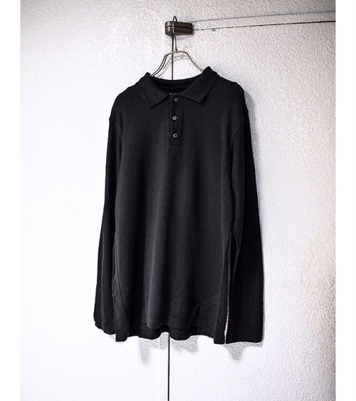 L/S cotton-rayon ポロシャツ