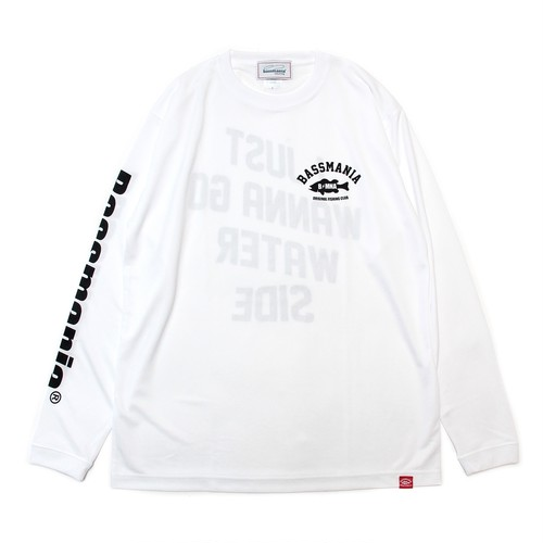 I JUST WANNA GO ... dry UV  L/S Tee [WHT]