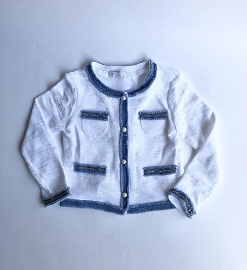 ELSY パールボタン長袖ジャケット 5才(110cm)~8才(130㎝) エルシー