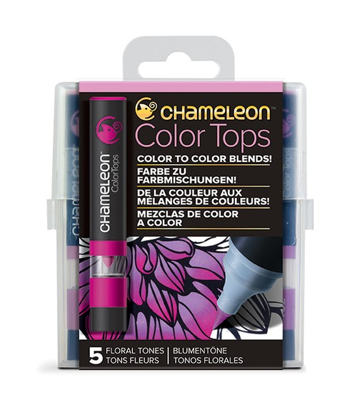 Chameleon Pen 5 Color Tops Floral Set (カメレオンペン 5本入りカラートップ フローラルセット)