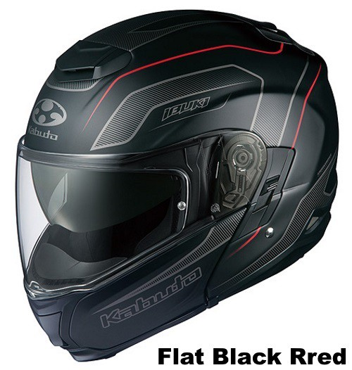 OGK IBUKI ENVOY flat-black-red