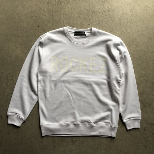 "ROCKEZ ""Old Logo"" Crew Sweat -WHITE-"