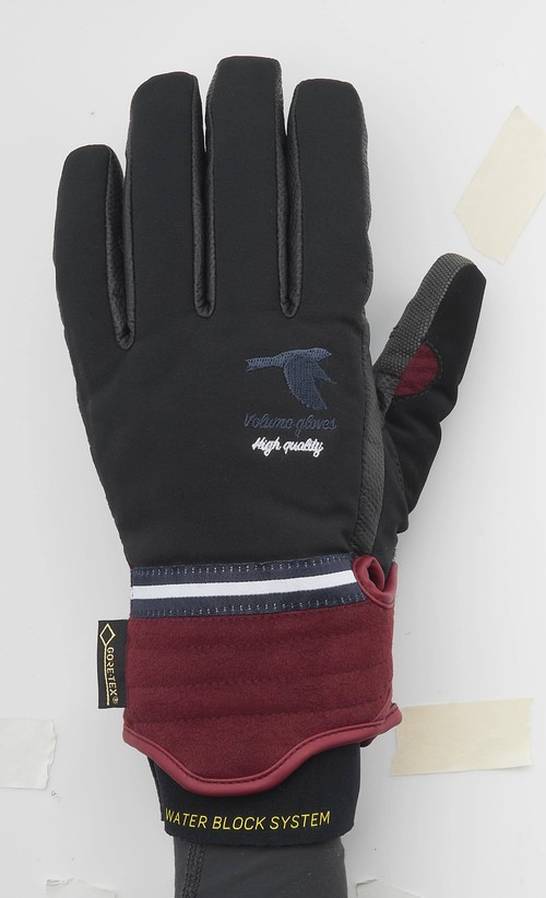 17-18 VOLUME GLOVES MANIFESTO WATERPROOF BLACK × BURGUNDY ヴォリューム グローブ