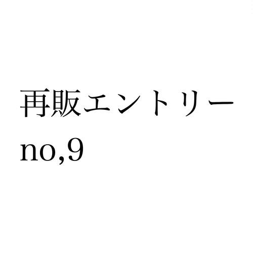 再販エントリー no,9