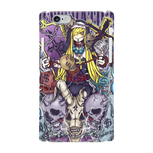 #016-009 iPhone8対応 クール系・ロック系  《スミス~オリジナルキャラクター~》 iPhoneケース・スマホケース 作:nero Xperia ARROWS AQUOS