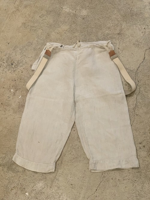 〜1940's french farmers linen pants