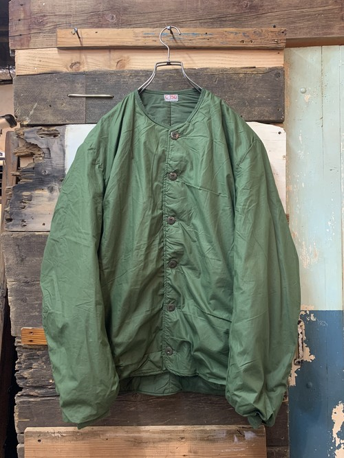 70's swedish army liner jacket deadstock