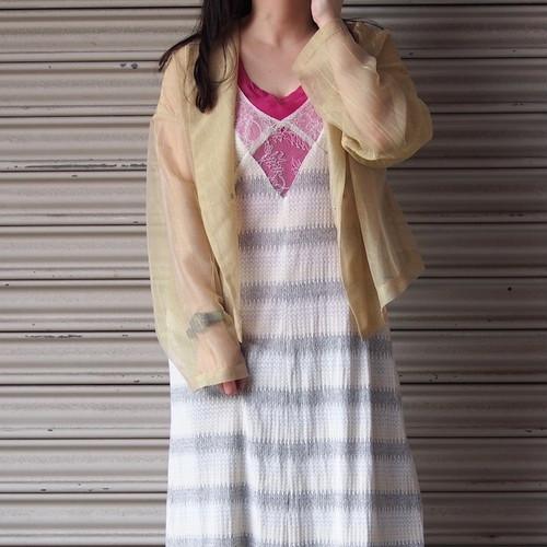 【RehersalL】mesh short coat (yellow)/【リハーズオール】メッシュ ショートコート(yellow)