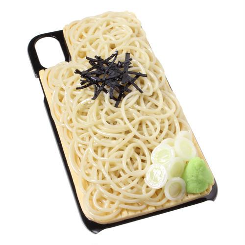 [8000]食品サンプル屋さんのスマホケース(iPhone XS、XS Max、XR:蕎麦)【メール便不可】