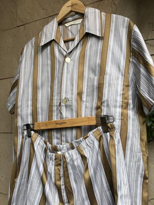 Deadstock Old German S/S setup stripe pattern Pajama(pants)
