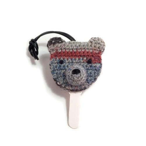 くまごろうのキーカバー - 編みぐるみ -