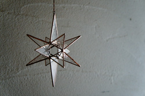 アンティーク硝子の星の瞬き*オーナメント* Copper color