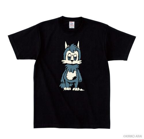 おおかみくんTシャツ_Mサイズ_ブラック