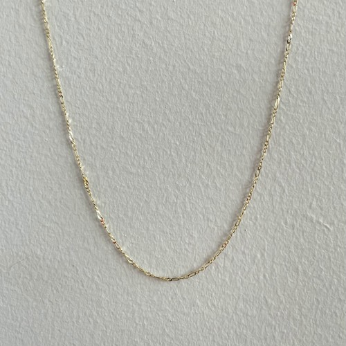【14K-3-31】16inch 14K real gold chain necklace