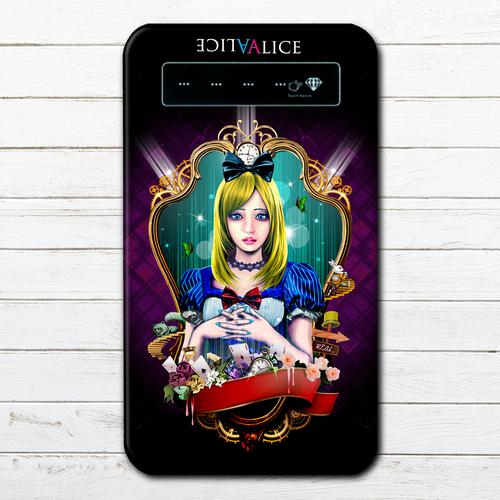 #044-016 モバイルバッテリー おすすめ iPhone Android かわいい おしゃれ 男性 向け 人気 不思議の国のアリス スマホ 充電器 タイトル:Light Alice 作:kis