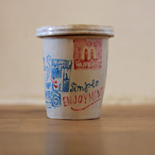 マクドナルド ドリンクカップMサイズ (陶器)