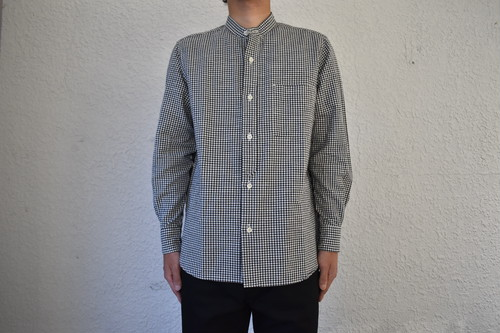 【maillot】Stand Combi Shirt -Gingham col.BLACK CHECK