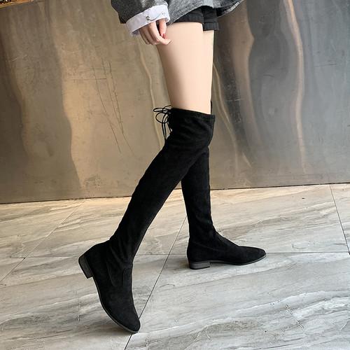 【シューズ】ポインテッドトゥファッション普通ロング丈ブーツ27112302