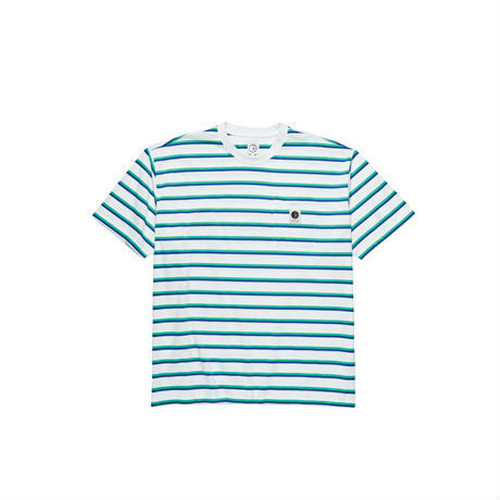 POLAR SKATE CO.  STRIPED POCKET TEE WHITE L ポーラー ボーダーTシャツ