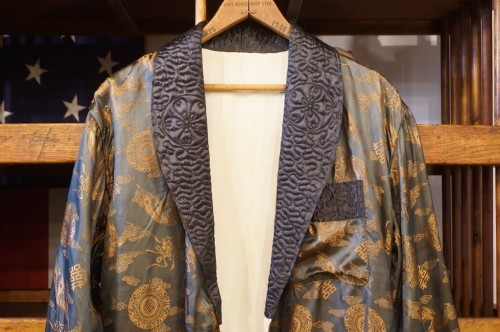 50-60's silk jacquard China robe Jacket