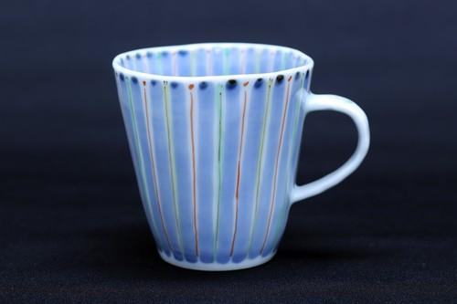 藍水 花十草 マグカップ(小) うつわ藍水(波佐見焼)