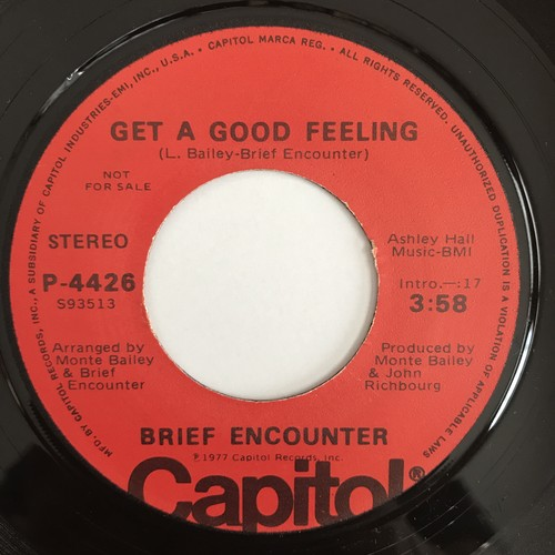Brief Encounter - In A Very Special Way / Get A Good Feeling