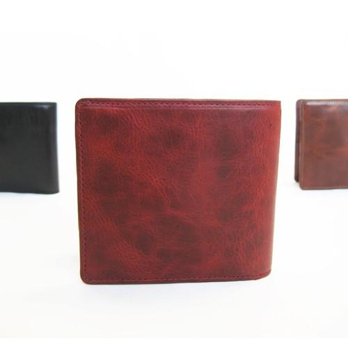 """BASIC""アートウォレット<RED> ギフト包装・送料無料 二つ折り財布"