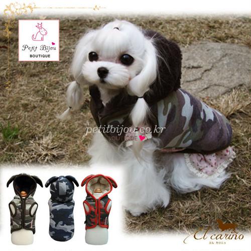 8。Petit Bijou【正規輸入】SM M ML 犬 服 コート うさぎ耳 秋 冬物