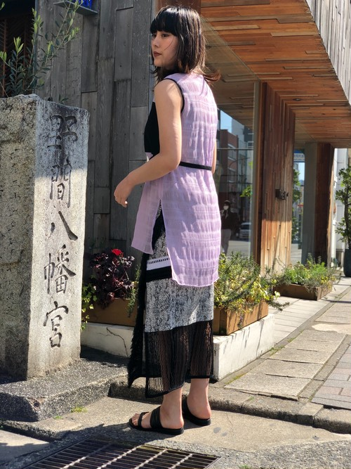 【20SS】EBONY エボニー / Belt Long Tops (PURPLE)
