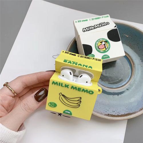 【オーダー商品】Cute drink banana milk airpods case