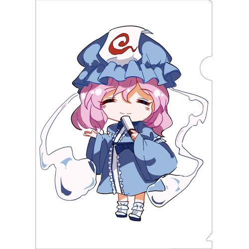 【クリアファイル】二頭身西行寺幽々子