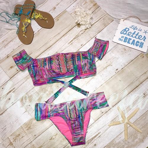 インポートビキニ オフショルダー offsholder bikini 一点物
