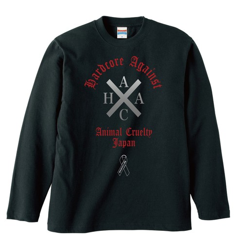 HARDCORE AGAINST ANIMAL CRUELTY(反動物虐待・動物虐待防止運動)【FULL COLOR / LONG SLEEVE】