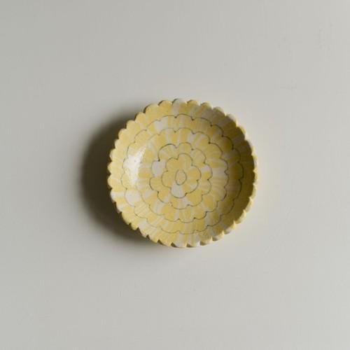 田中ちあき 花豆皿黄色 商品番号:ts5a