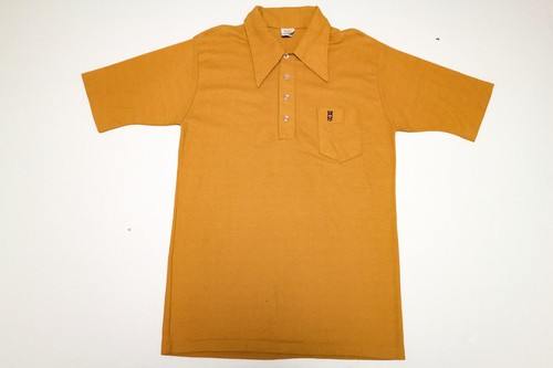 80s ONEPOINT SS POLOSHIRT 古着 ポロシャツ ワンポイント イエロー 通販