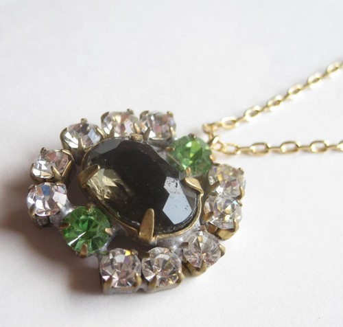 TheDelight antique Czech stone pendant(アンティーク チェコ ストーン ペンダント)②